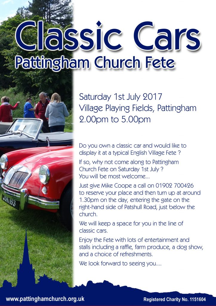 Classic Cars at Pattingham Church Fete