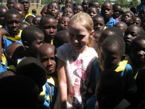 Milly's first meeting with the children at Mwiyenga