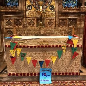 Altar with banner