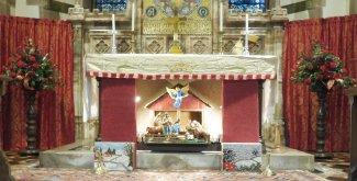 Altar with crib