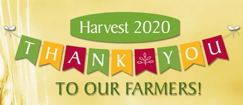 Harvest 2020 - Thank you to our farmers!
